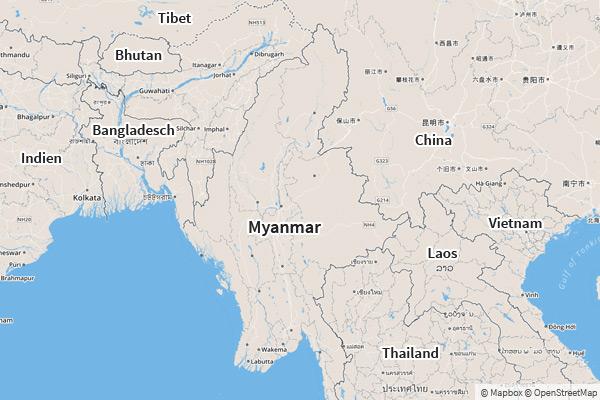 Myanmar Karte Die Schonsten Stadte Und Reiseziele
